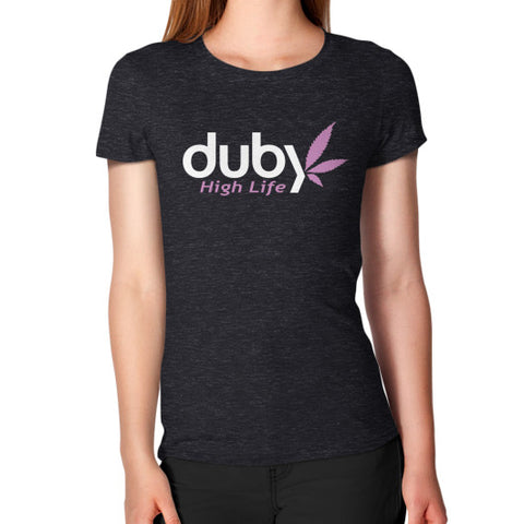 Women's T-Shirt Tri-Blend Black Duby Swag Shop