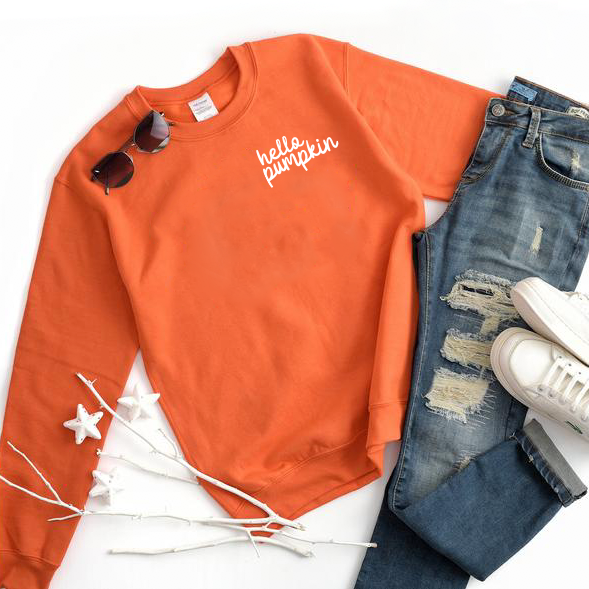 Hello Pumpkin • Orange Pullover