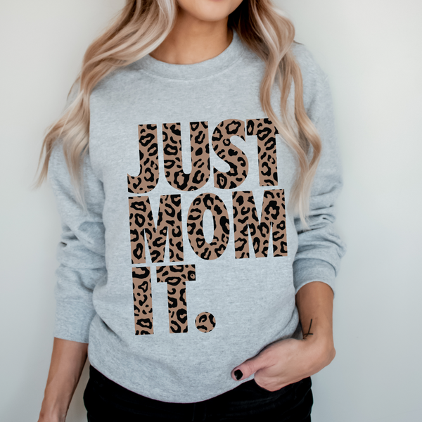JUST MOM IT • Cheetah Pullover