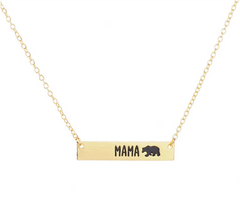 Mama Bear • Bar Necklace