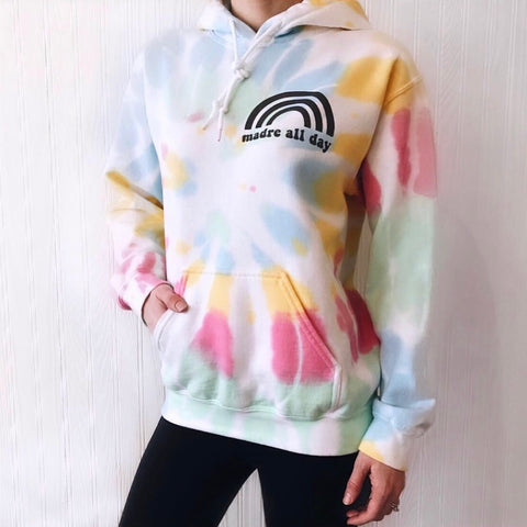Madre All Day Rainbow • Tie-Dye Hoodie