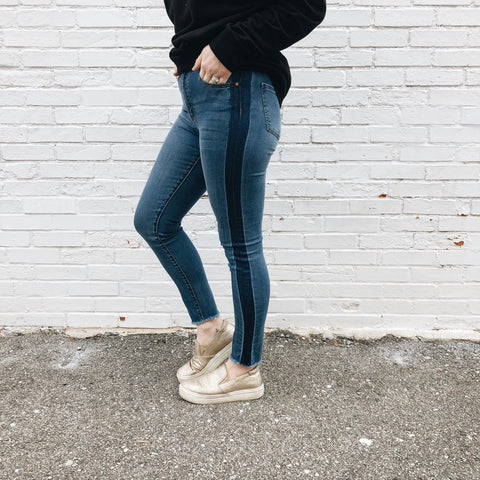 Hi-waisted Ankle Jean Leggings