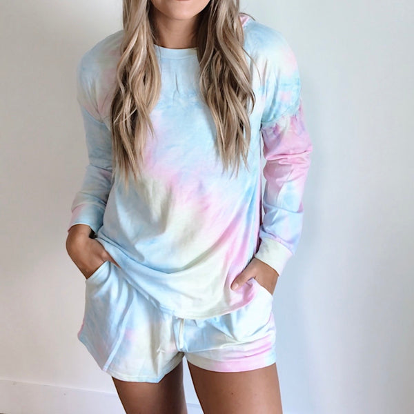 Pastel Rainbow Tie Dye Lounge Set