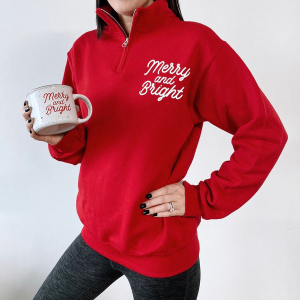 Merry & Bright • 1/4 Zip Pullover