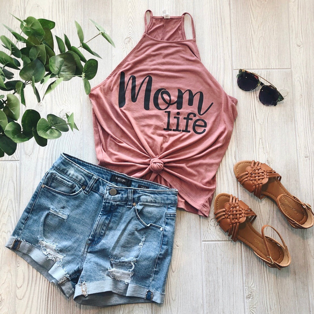 Mom Life OG Mauve • High Neck Tank