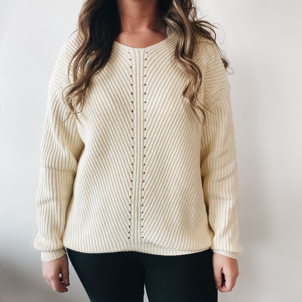Evelyn Sweater • Ivory