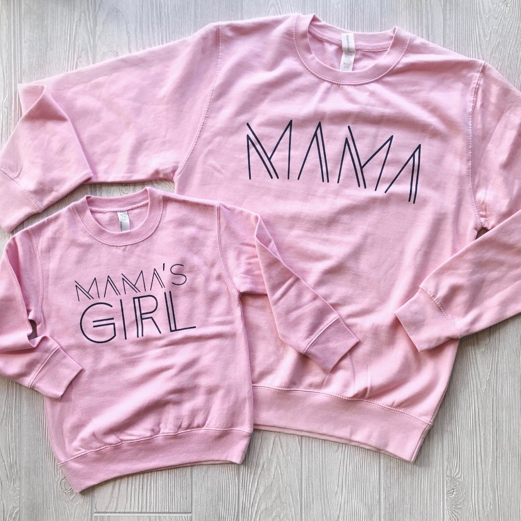 Mama Line Print• Pink Pullover