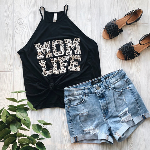 Mom Life Cheetah • High Neck Tank