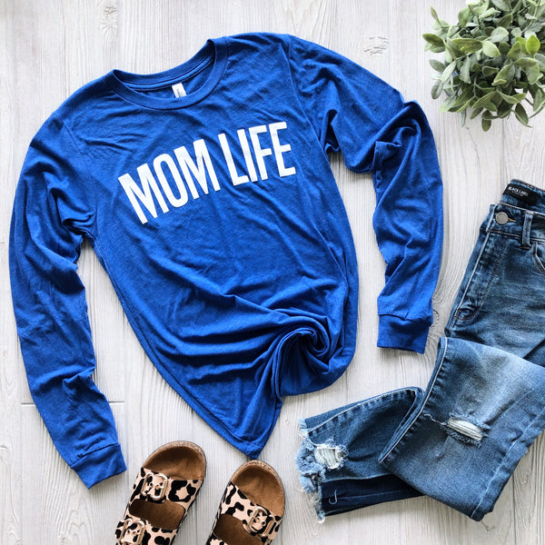 Mom Life • Royal Blue Long Sleeve
