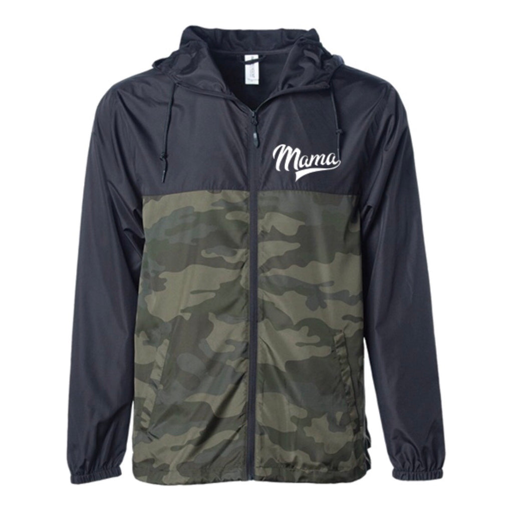 Mama Sporty • Camo Windbreaker