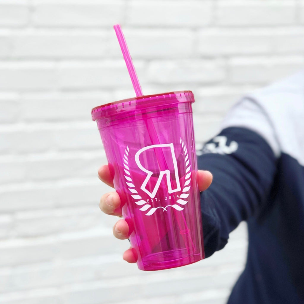 Pink R Logo • Double Wall Tumbler