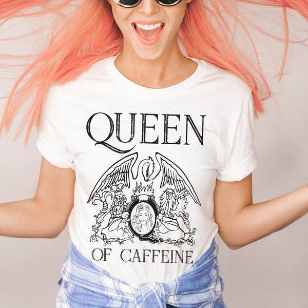 Queen • White Tee
