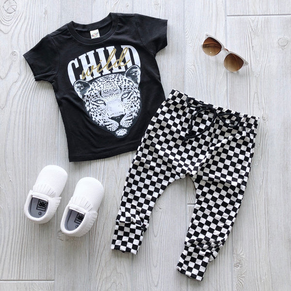 Mini Checkered • Harem Pants