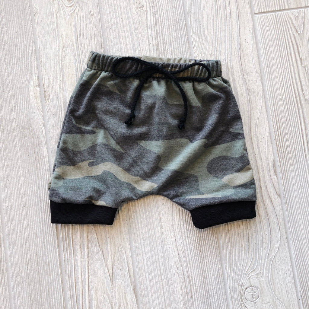 Terry Camo  • Harem Shorts