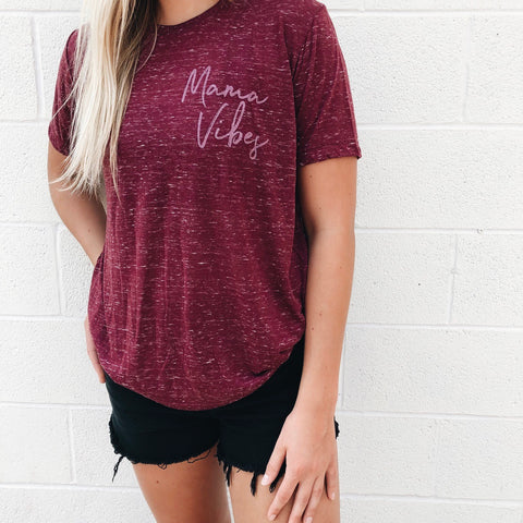 Mama Vibes • Maroon Marbled Crew