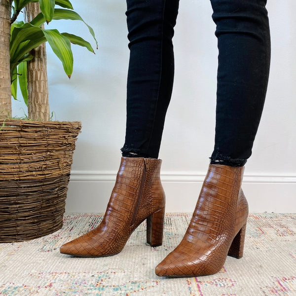 Brown Crocodile Bootie • Adult