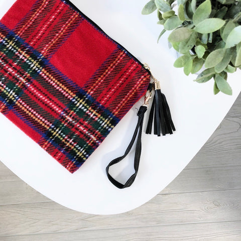 Red Plaid • Crossbody/Clutch