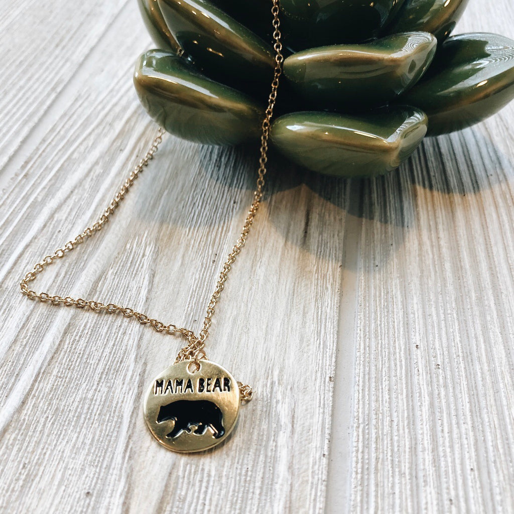 Mama Bear • Disk Necklace