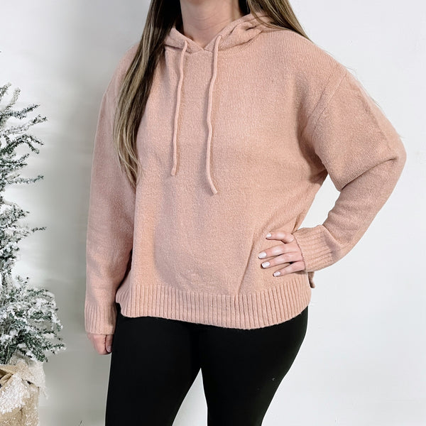 Alex Hooded Sweater • Blush Rose