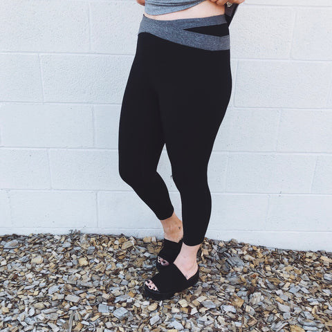 Wrap Band Crop Leggings