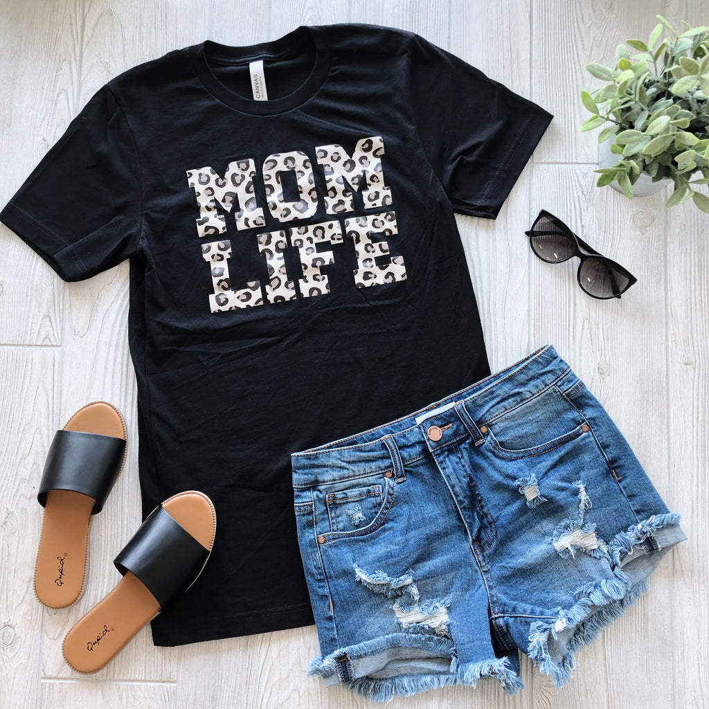 Mom Life • Cheetah Tee