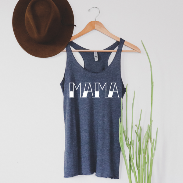 MAMA tattoo print • Navy Tank