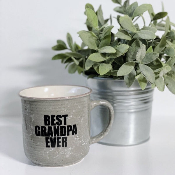Best Grandpa Ever • Gray Ceramic Mug