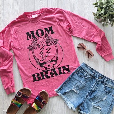 Mom Brain • Pink Long sleeve