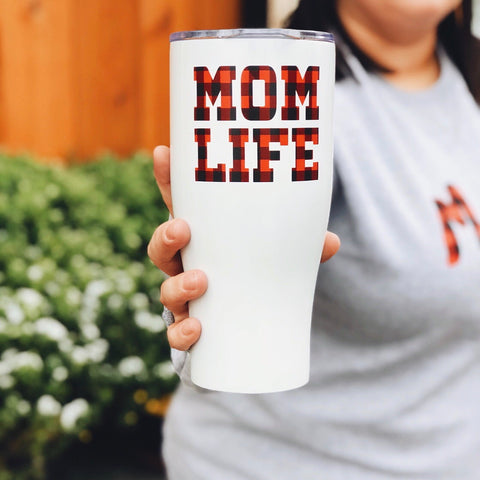 Mom Life Plaid • Tumbler
