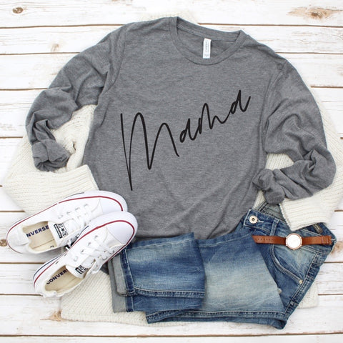 New Mama Script • Long Sleeved