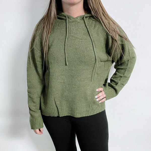 Alex Hooded Sweater • Military Green
