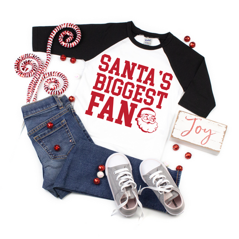 Santa's Biggest Fan • Raglan