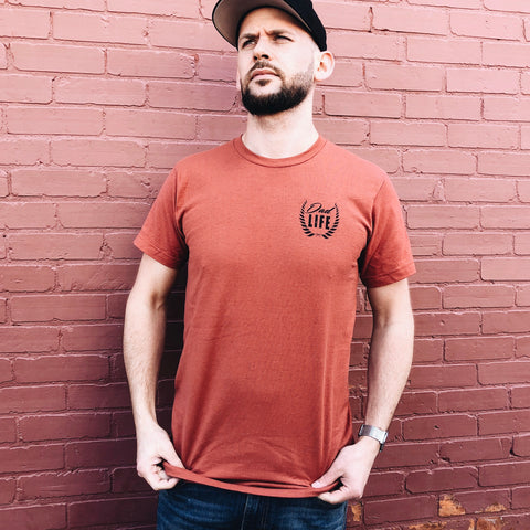 Dad Life Left Chest • Rust Tee