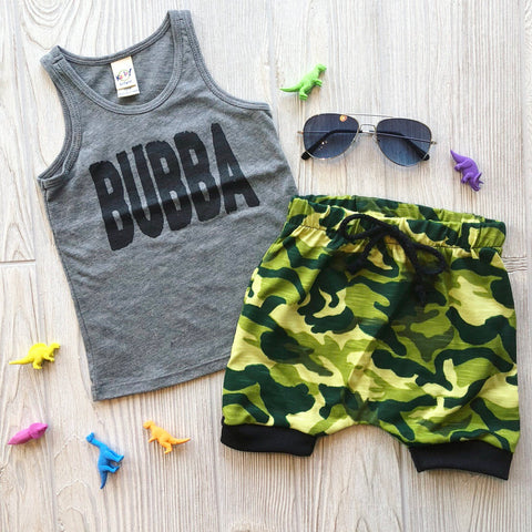 Green Camo Shorts • Harem