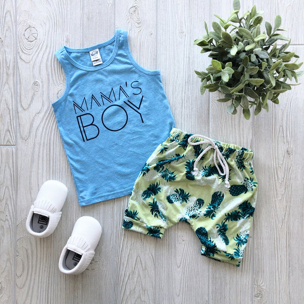 Mama's Boy • Columbia Blue Tank