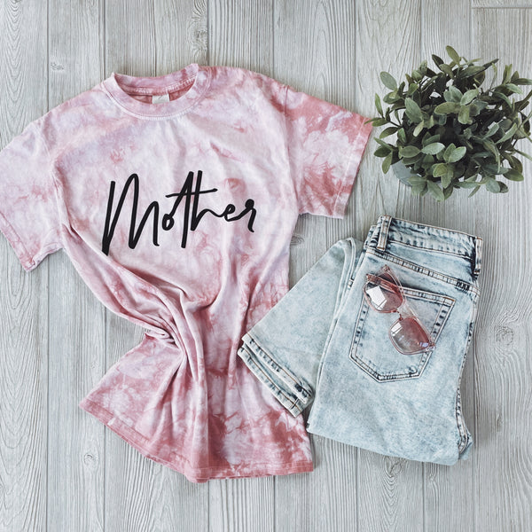 Mother Tee • Rose Gold Tie Dye