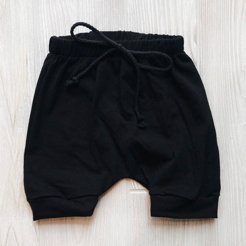Basic Black Shorts • Harem