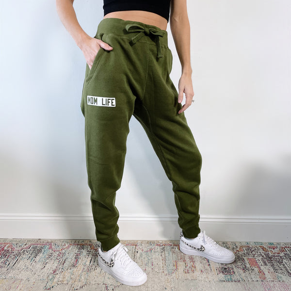 Mom Life • Olive Joggers