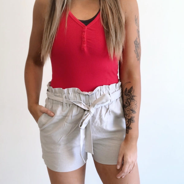 Solid Paper Bag Shorts • More Colors!