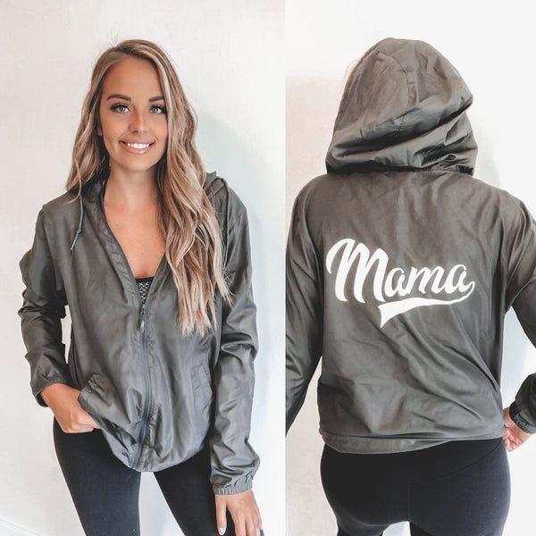 Mama Sporty • Grey Windbreaker