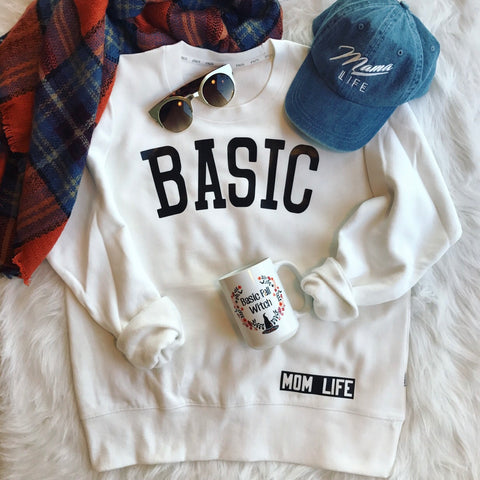BASIC Boxy White Crew