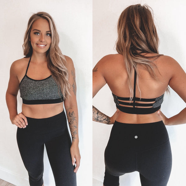 Diamond Texture Print • Sports Bra