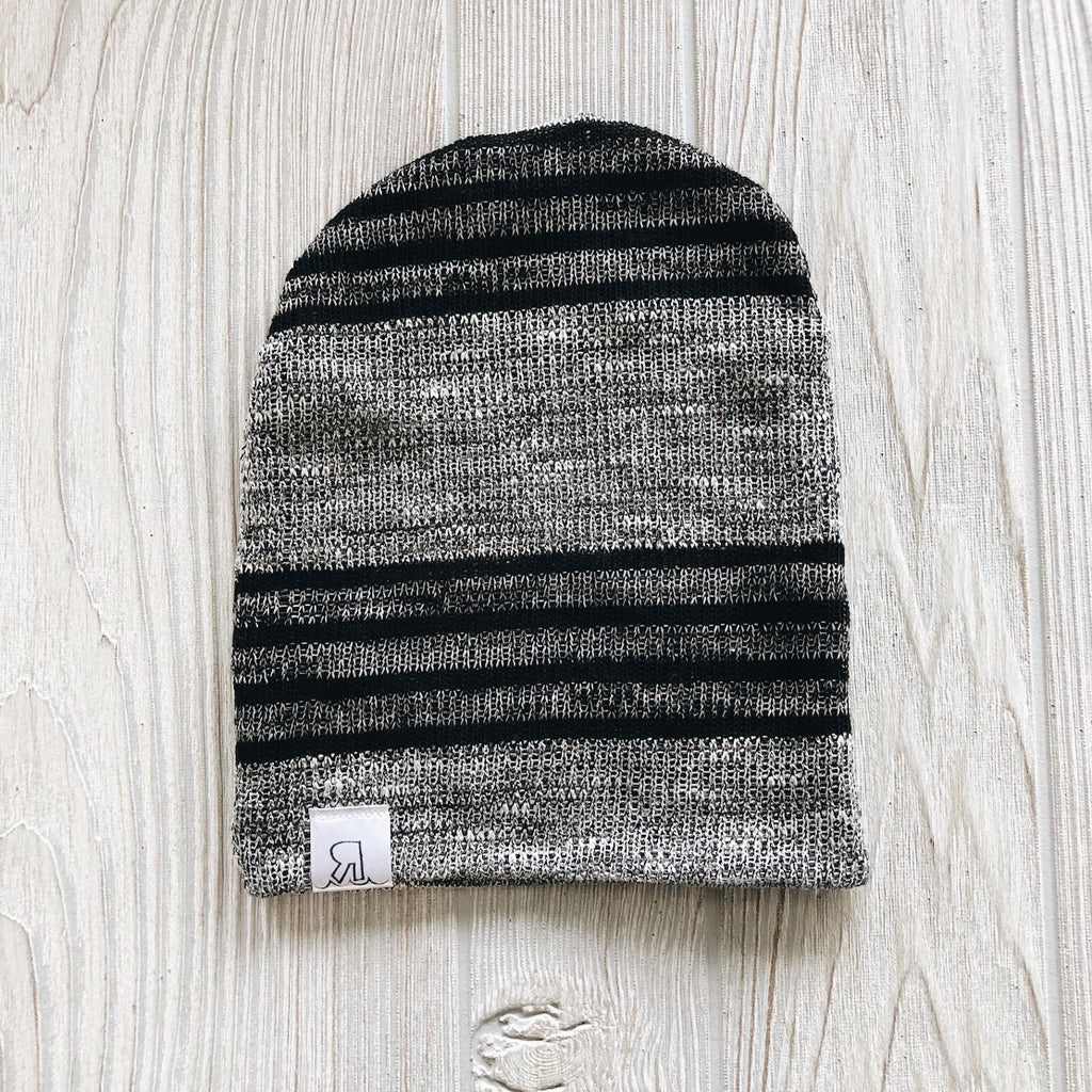 Striped Sweater Knit Beanie