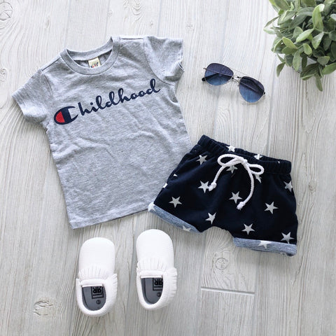 Cuffed Navy Star Shorts • Harem