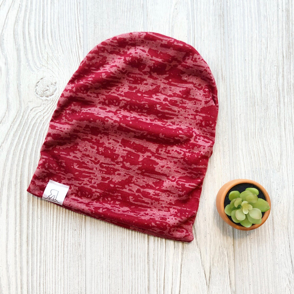 Red Acid Wash Beanie