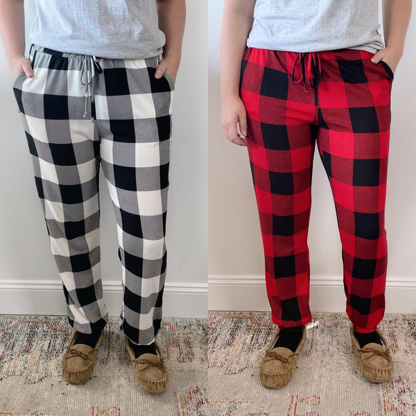 Plaid Holiday Joggers