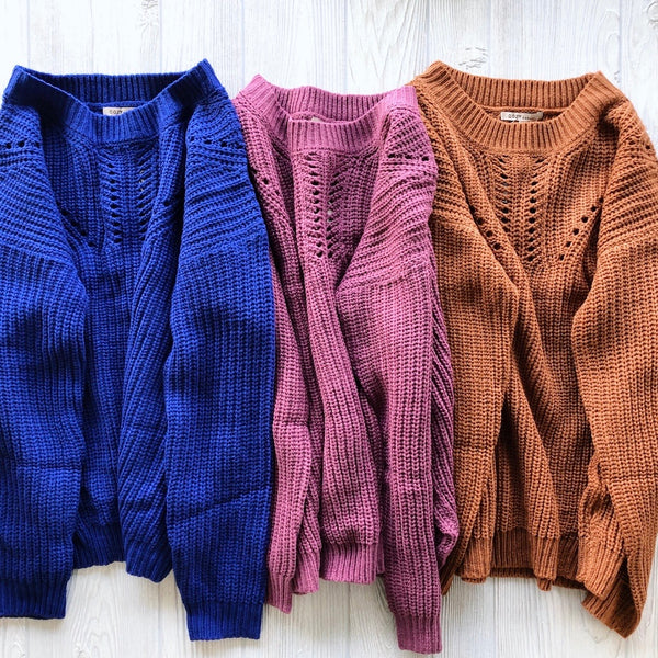Eyelit Sweater • More Colors!