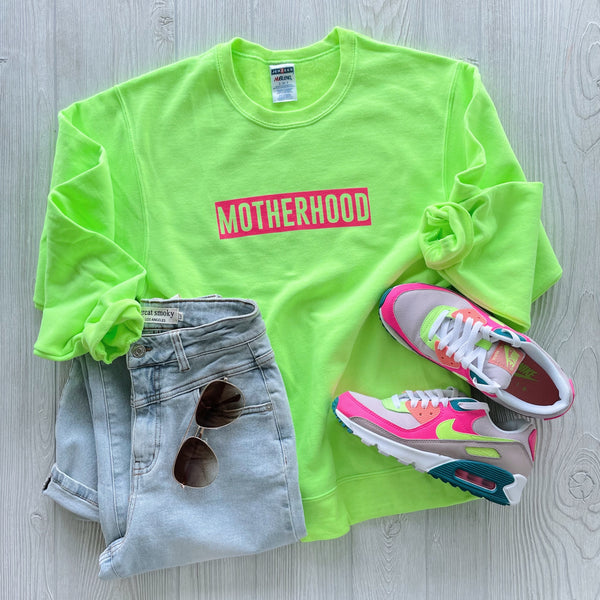 MOTHERHOOD • Neon Green Pullover
