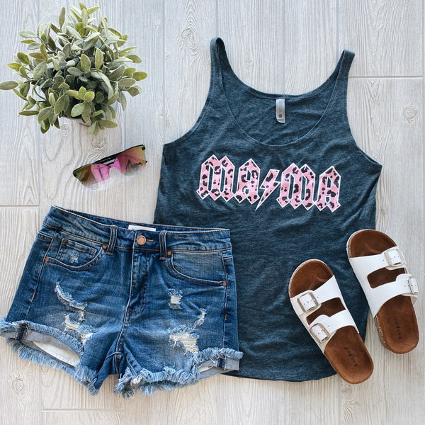 Cheetah AC/DC • Denim Tank