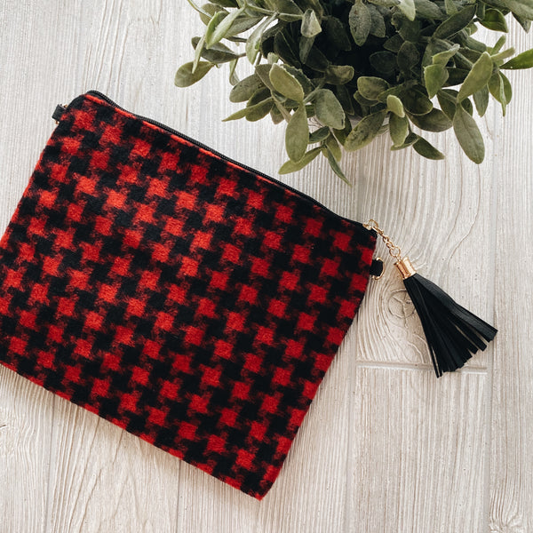 Red Mini Check • Crossbody/Clutch